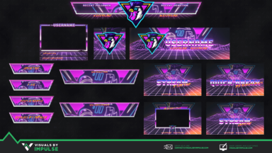 Retro Rooster Diamond Stream Package - Visuals by Impulse