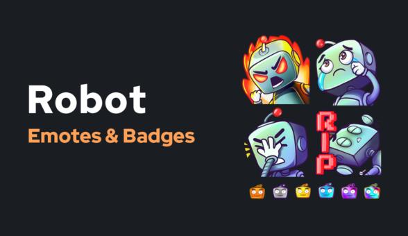 Emote Badges Robot