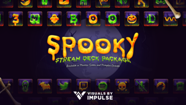 Spooky Stream Deck Icons - Visuals by Impulse