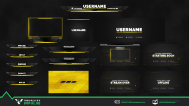 Stinger Animated Stream Package - Visuals by Impulse