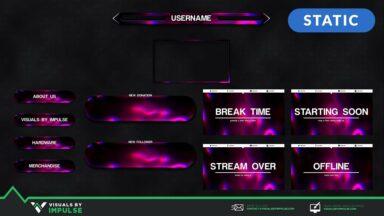 Streamer's Essentials Kit - Glowing Serpentine - Visuals by Impulse