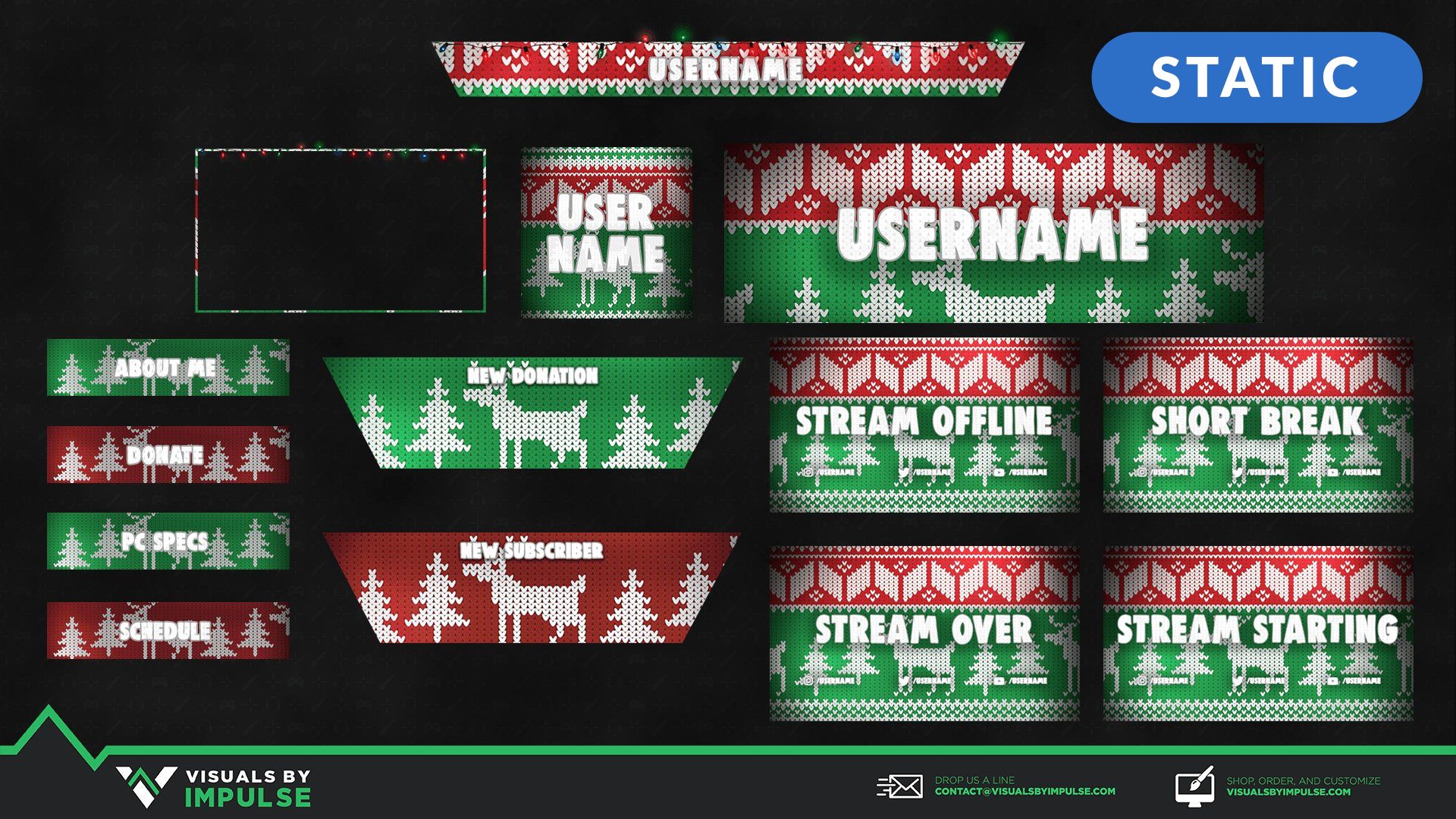 Ugly Sweater Stream Package - Visuals by Impulse