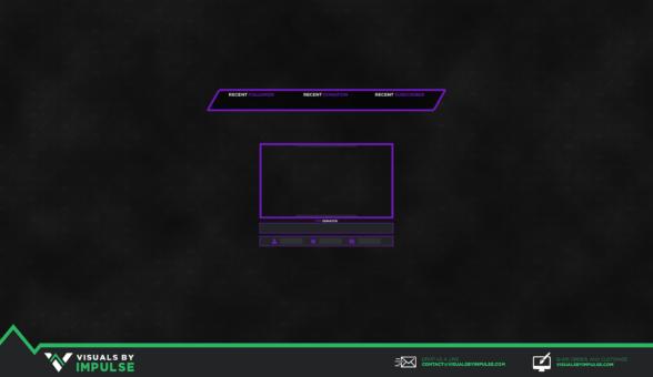 Violet Vengeance Stream Overlay - Visuals by Impulse