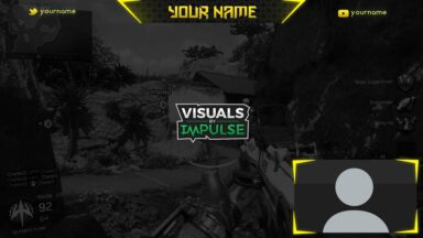 Yellow Twitch Overlay - Visuals by Impulse