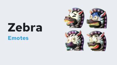 Zebra Emotes Badges