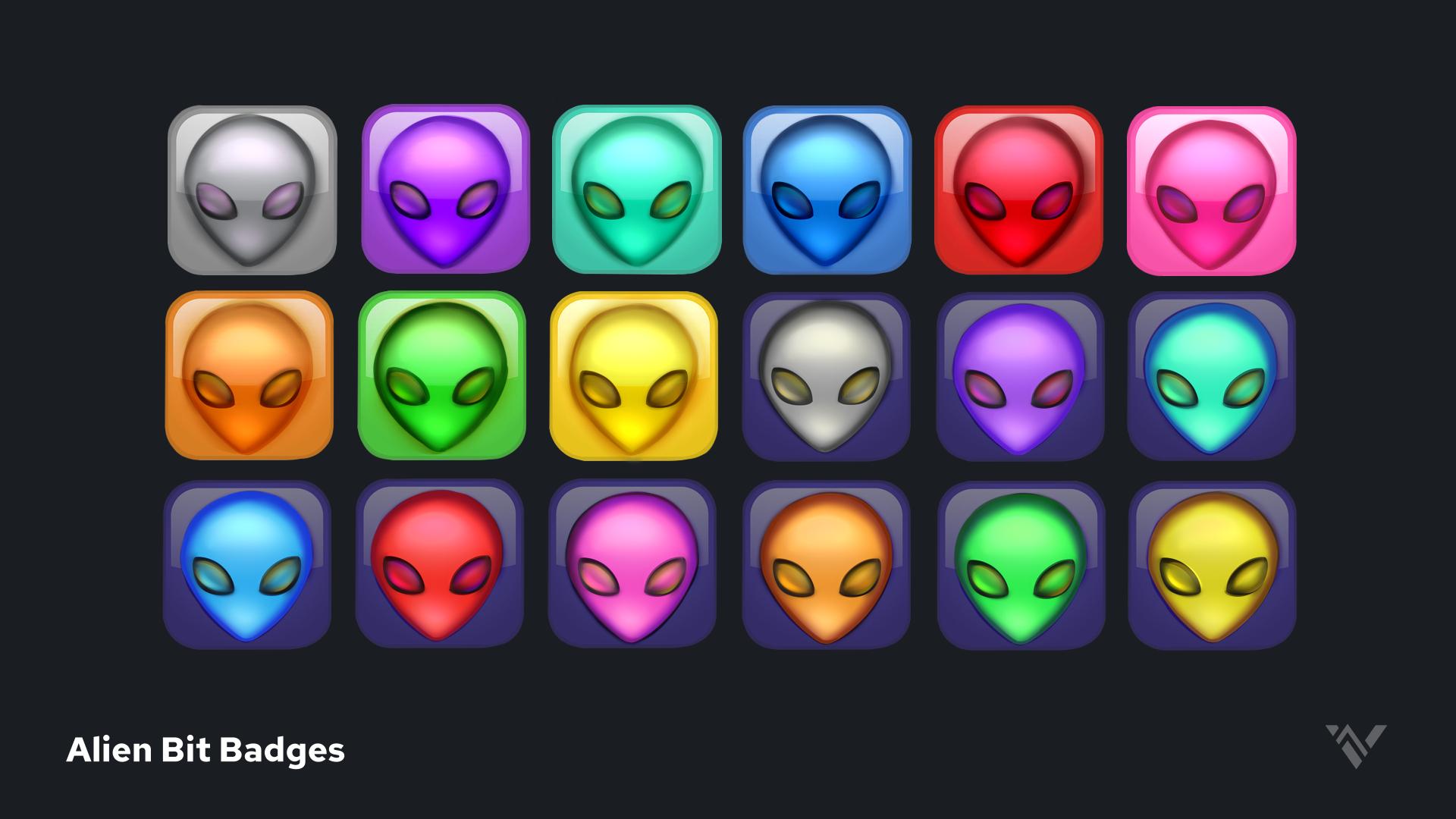 Alien Bit Badges - Preview