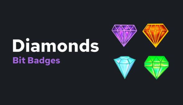 Diamonds Bit Badges