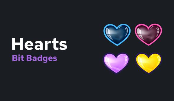Hearts Bit Badges