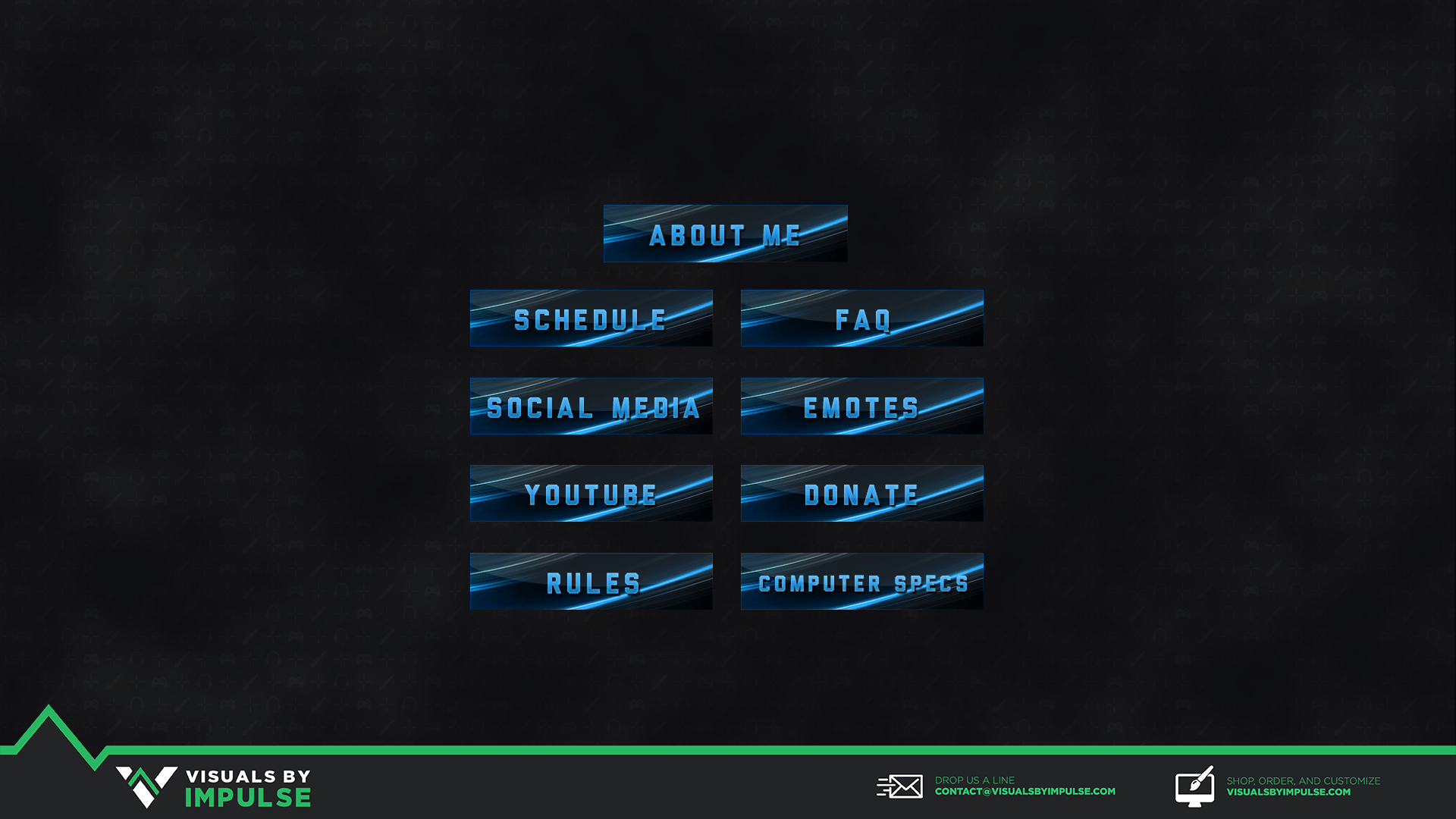 Blue Abstract Twitch Panels - Visuals by Impulse