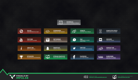 Chroma Pro Twitch Panels - Visuals by Impulse