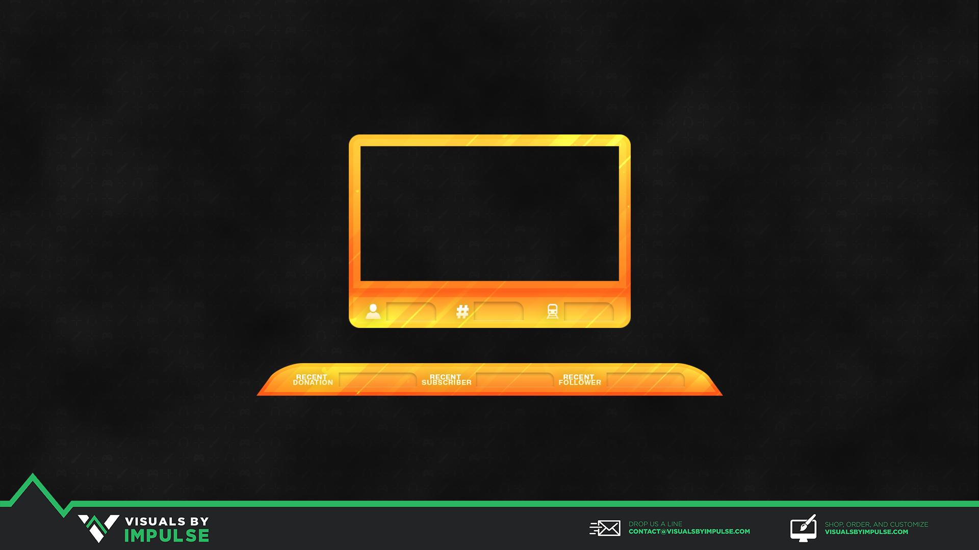 Citrus Drop Stream Overlay - Visuals by Impulse