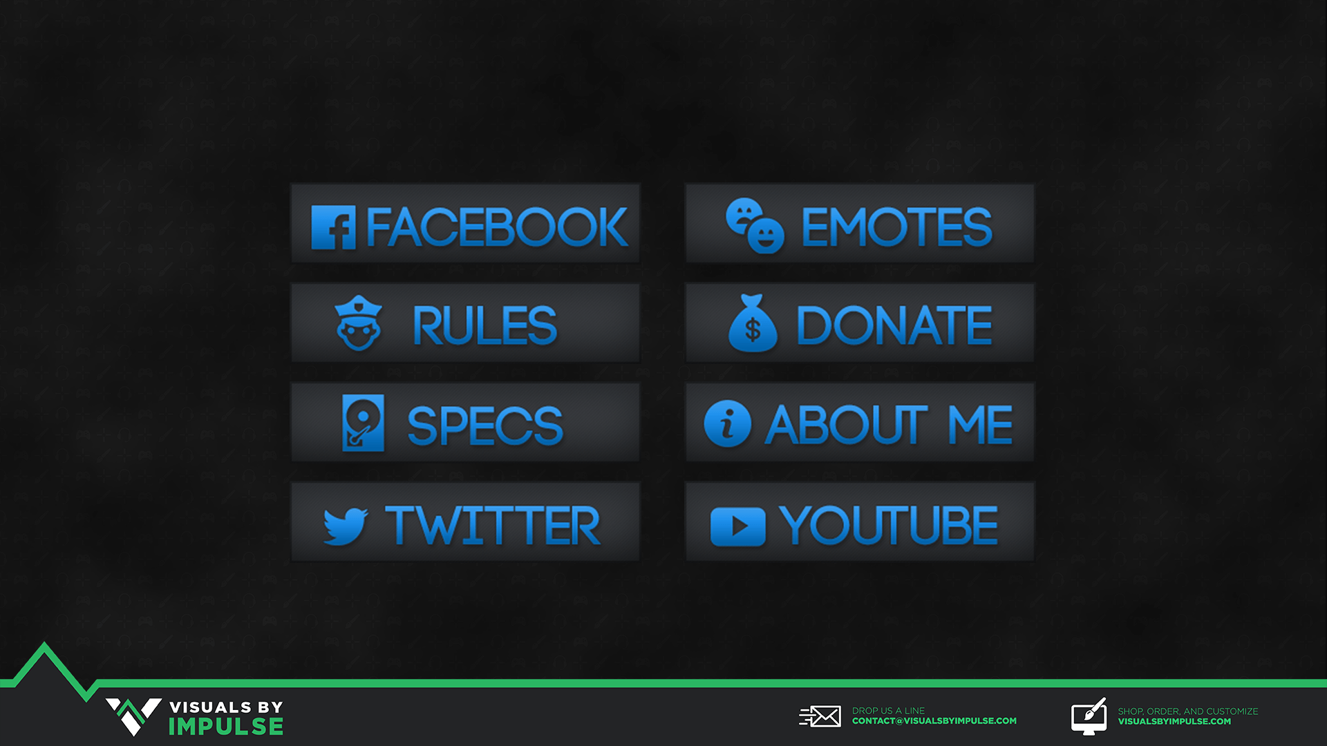 Colored Twitch Panels - Blue