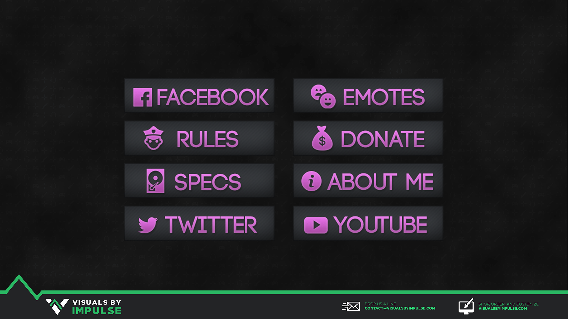 Colored Twitch Panels - Visuals by Impulse