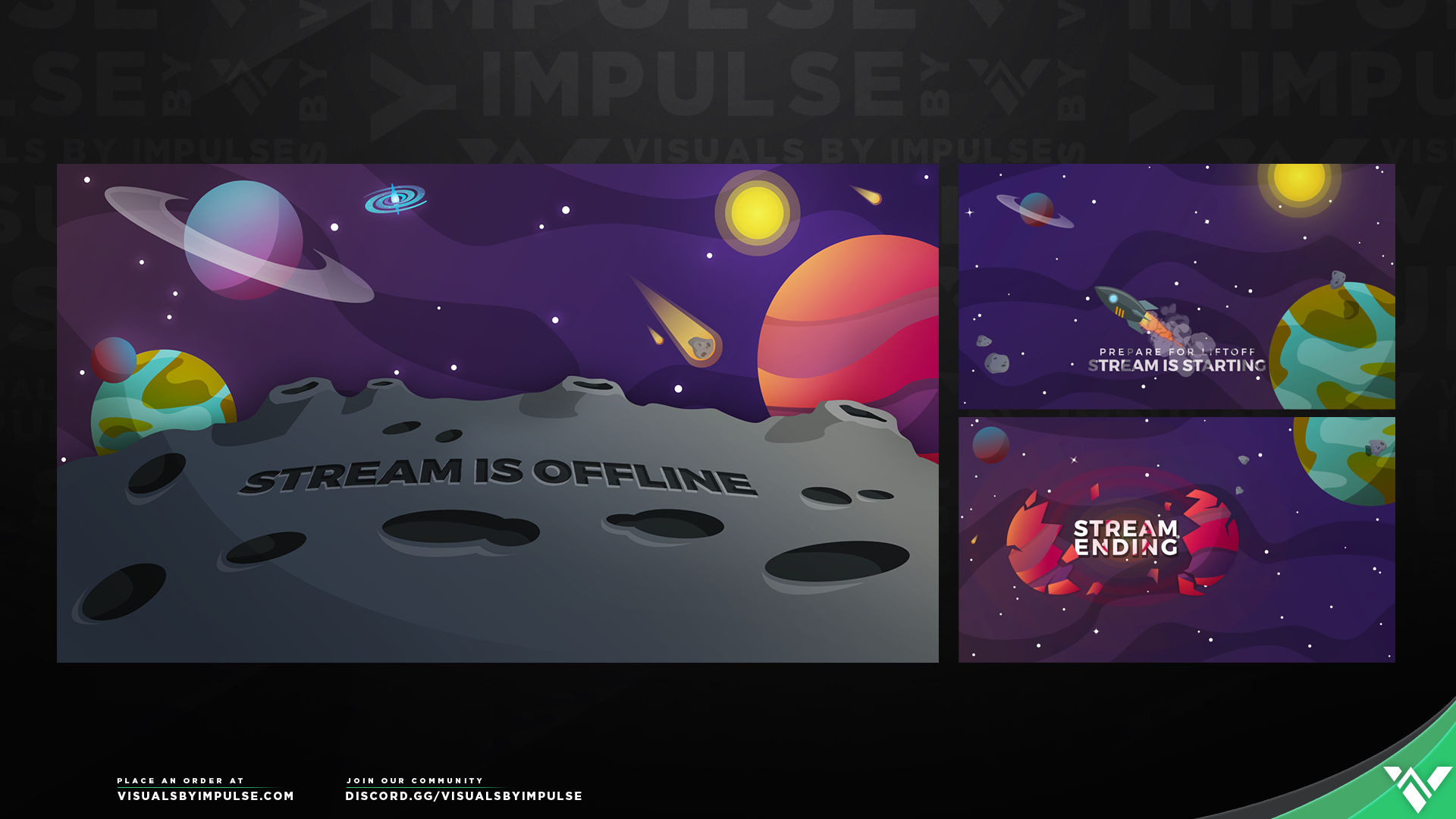 Cosmos Stream Package - Visuals by Impulse