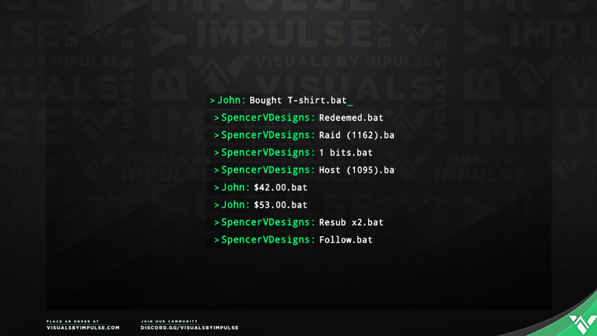 Cyber Animated Event List - Visuals by Impulse