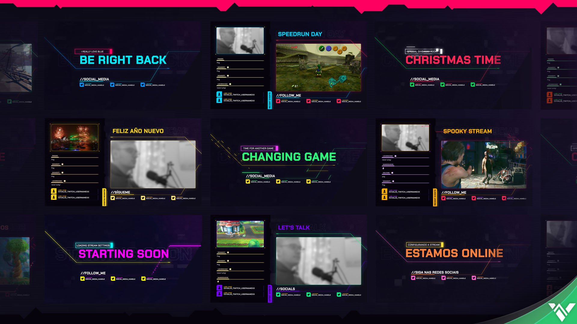 Cyberpunk Stream Package - Visuals by Impulse