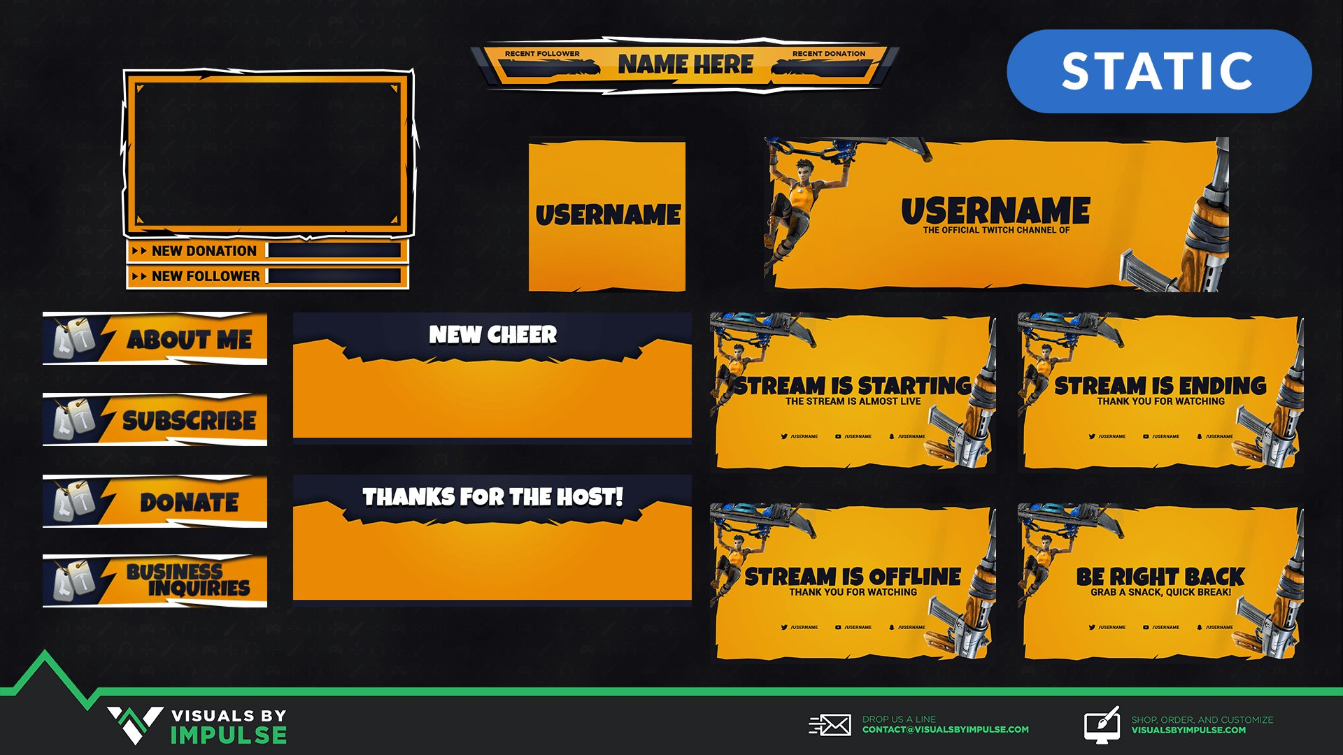 Fortnite Stream Package - Visuals by Impulse