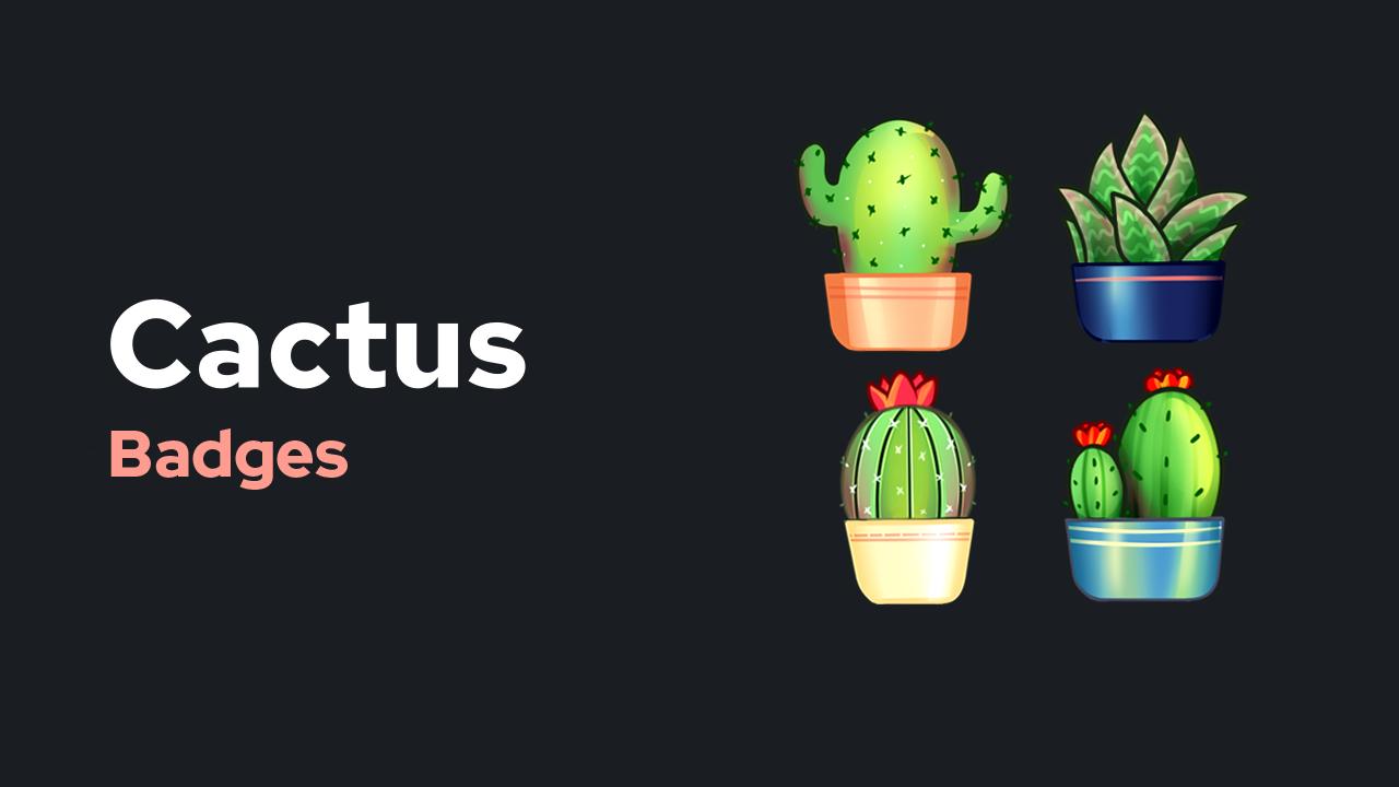 Cactus Badges