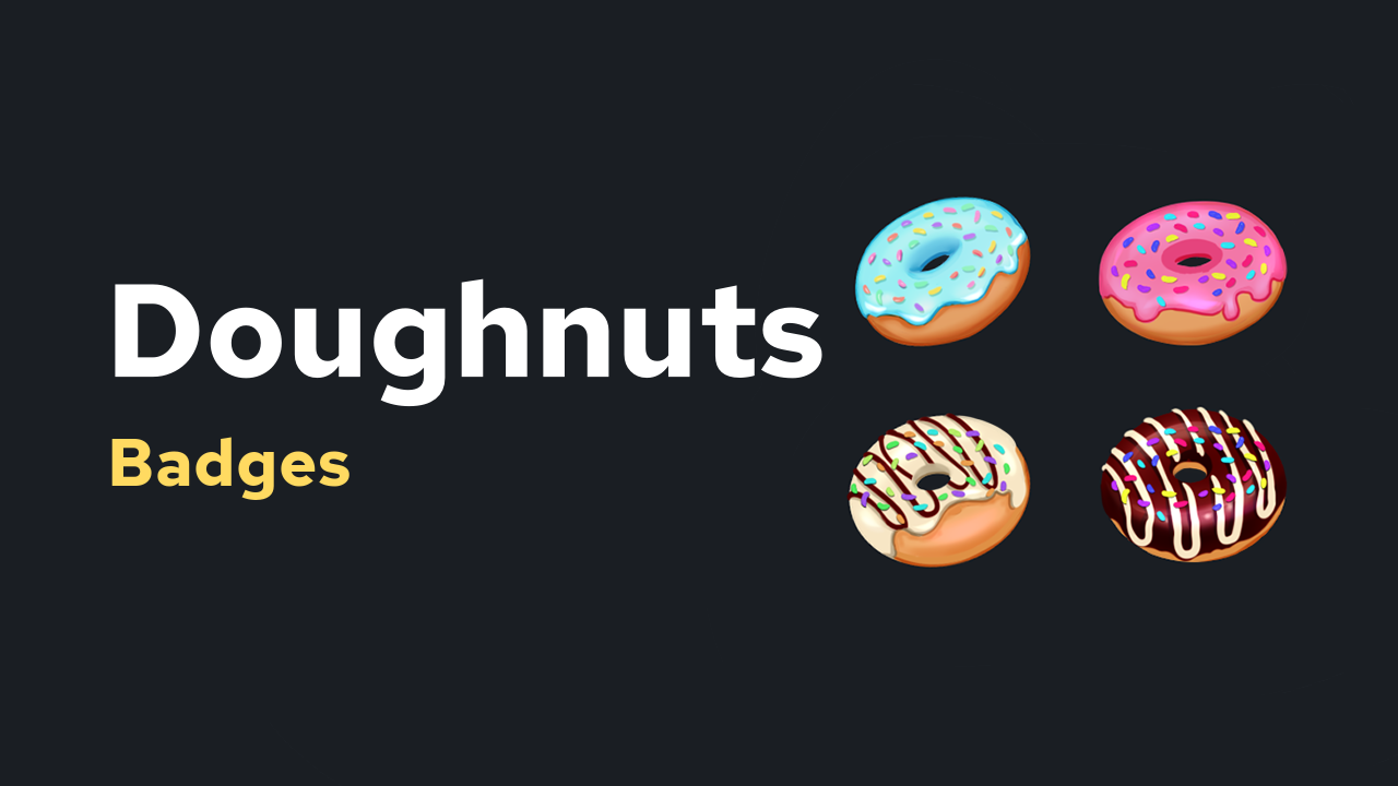 Doughnut Badges
