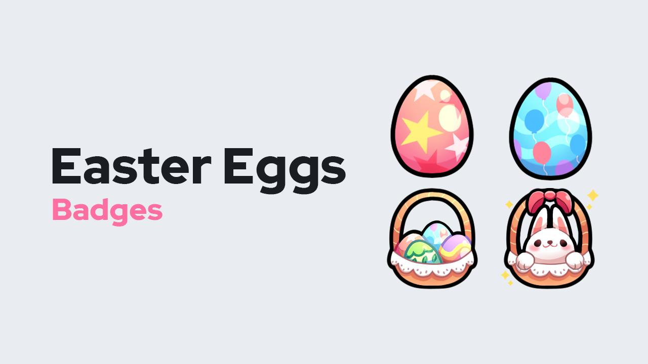 Easter Eggs Badges