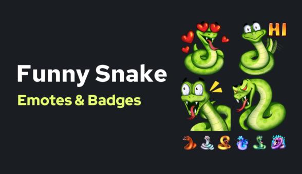 Emote Funny Snake