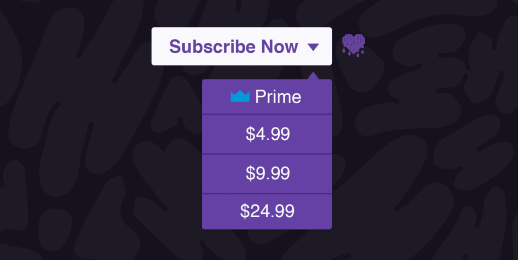 twitch subscription options