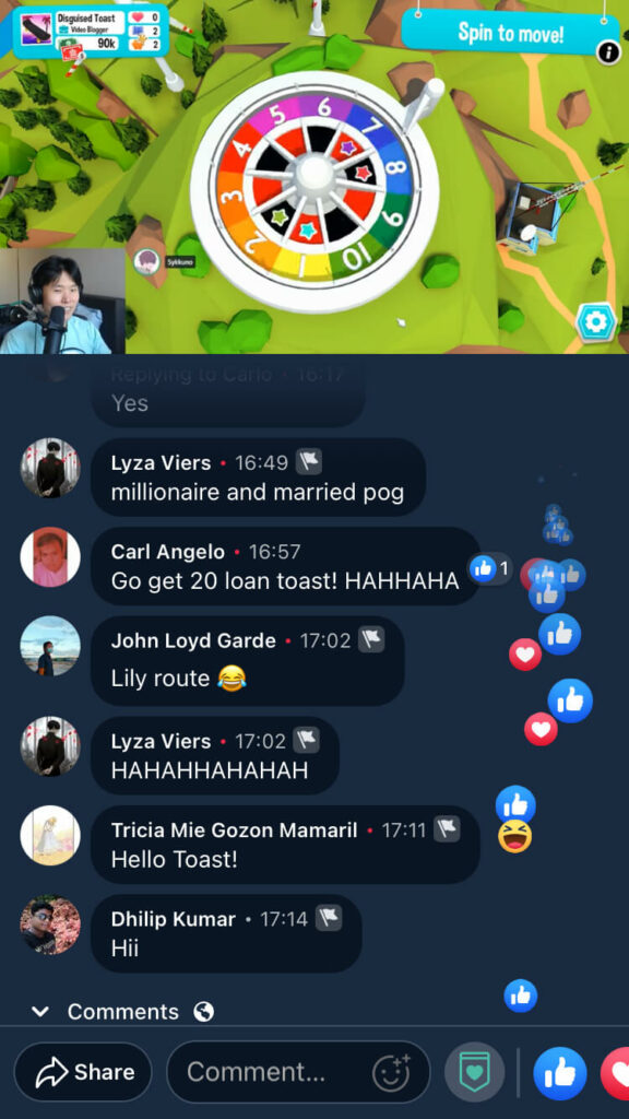 facebook gaming streamer with chat