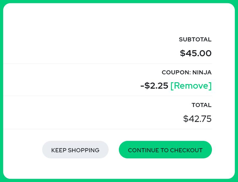 affiliate discount code example