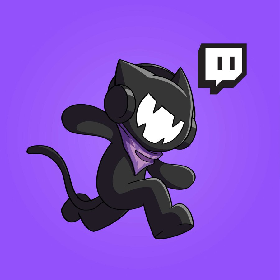monstercat character and twitch logo