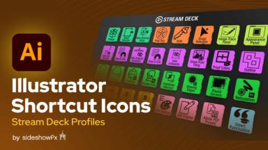 Illustrator Shortcut Icons for Stream Deck VBI Thumbnail