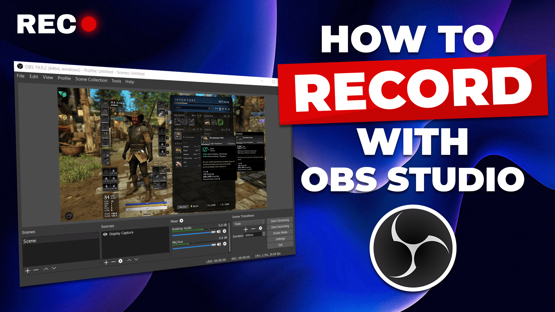 how to record with obs