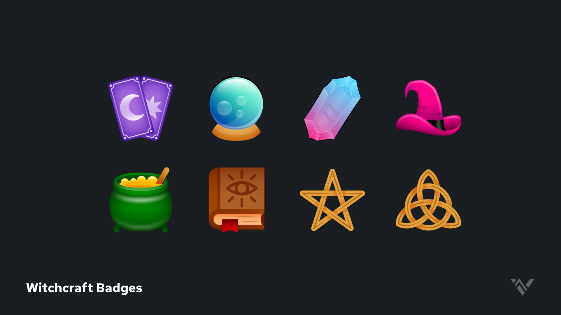 Witchcraft Badges Showcase