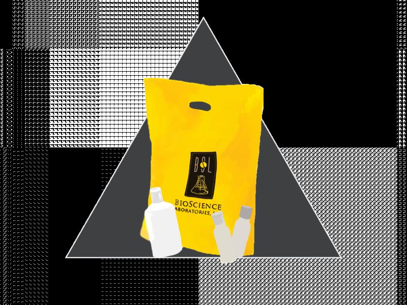 Bio Science labs hygiene bag