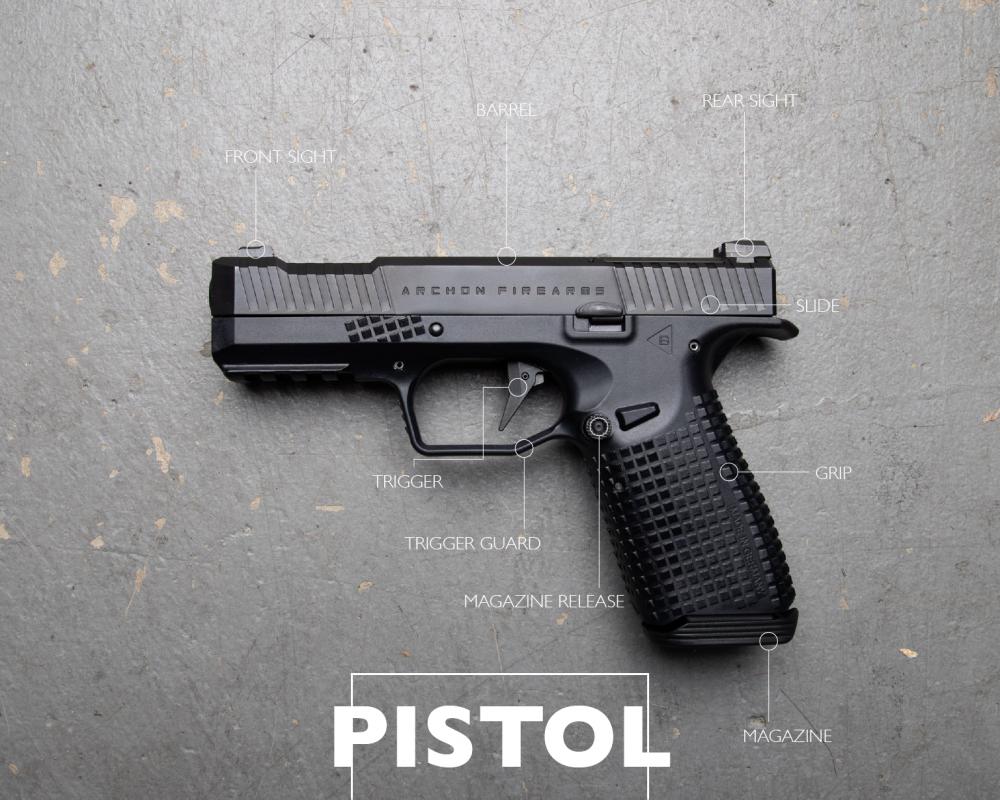 pistol handgun diagram