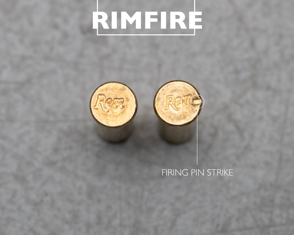 rimfire bullet strike