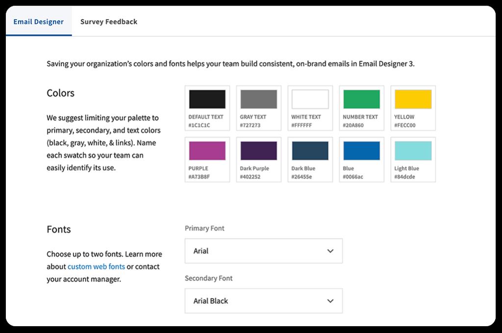 corporate branding settings in Bananatag platform