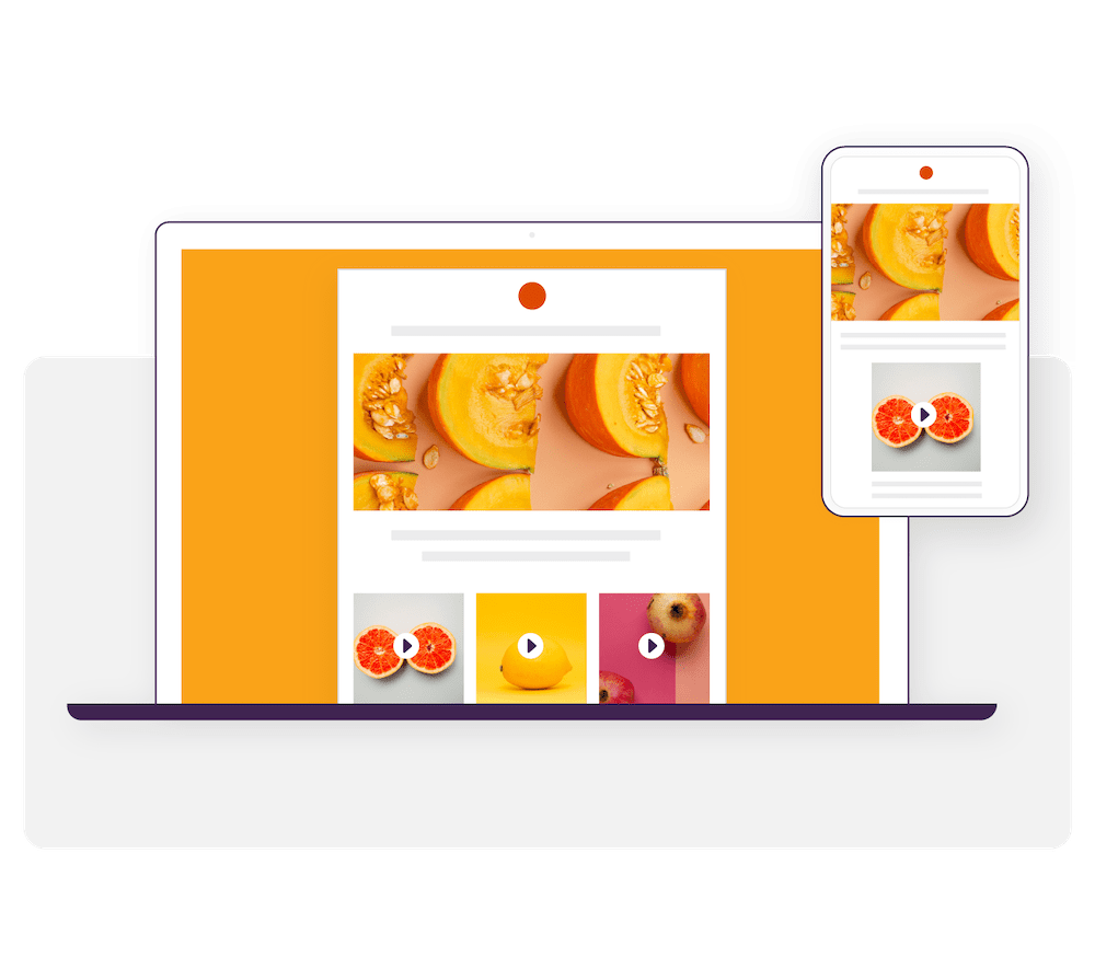 Bananatag Email Designer: An example of responsive email template