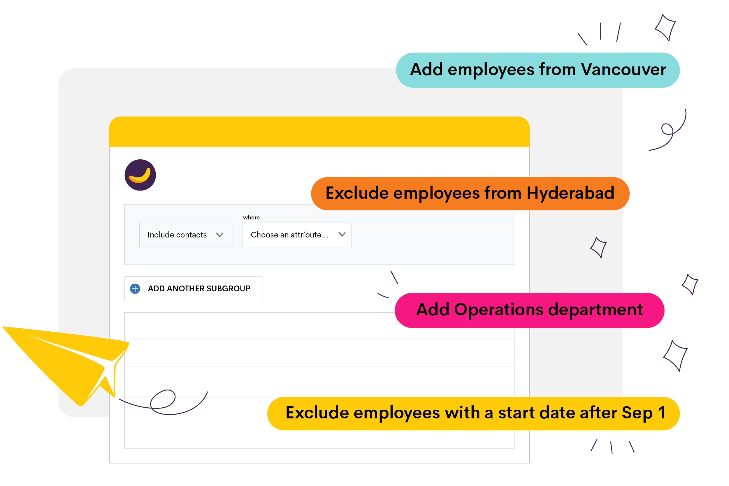 A hero image with list management features