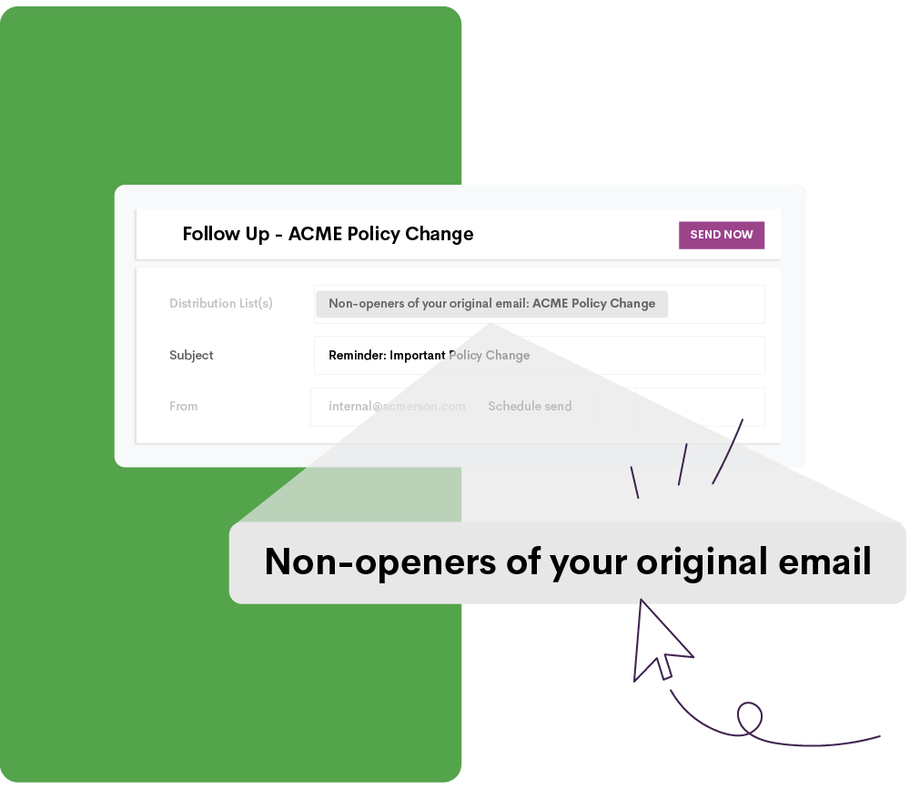 Indication of non-openers emails