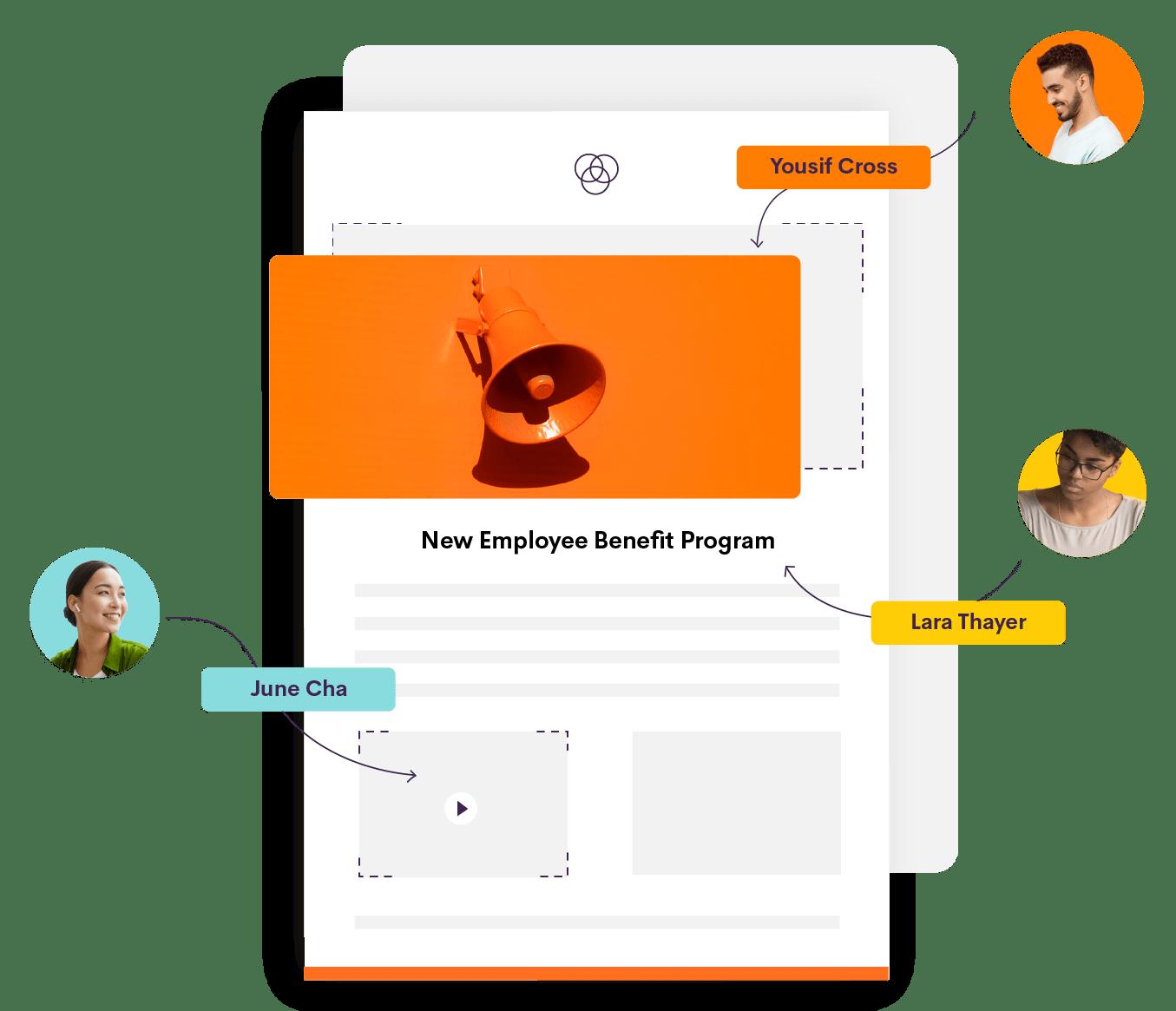 Bananatag Email Designer: Image showing collaboration