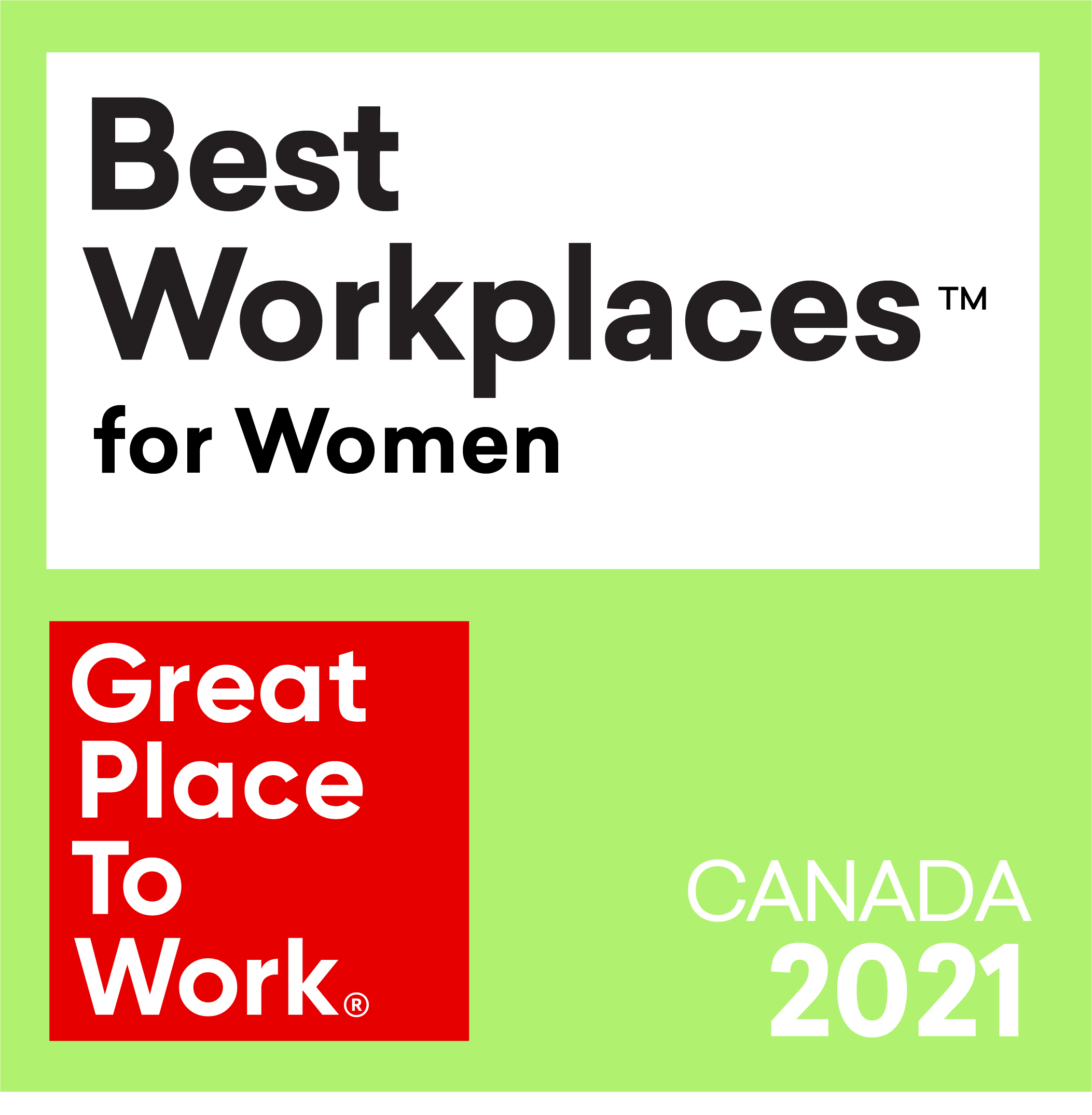 Logo of Best Workplaces for Women award