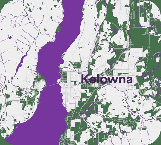 Lelowna on map