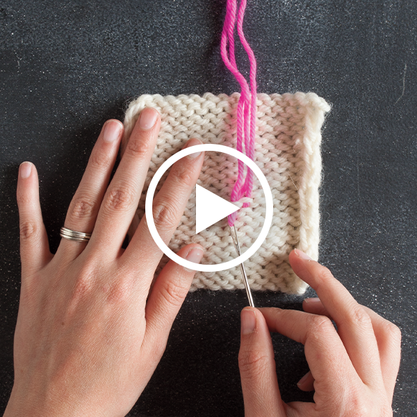 How to Weave in Ends