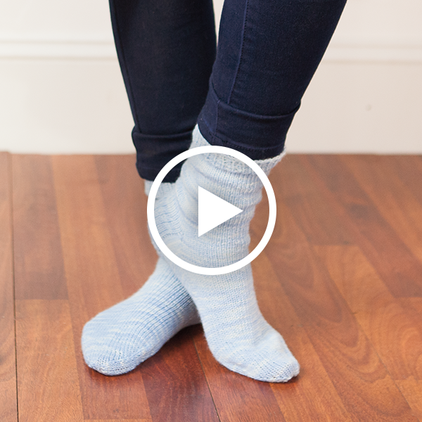 Go Your Own Way Toe Up Socks
