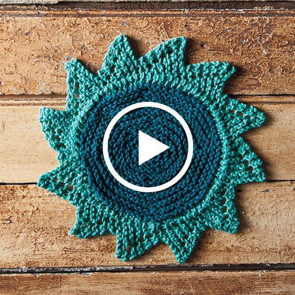 Knit a Starflower Dishcloth