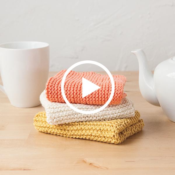 Learn to Knit Club: Dishcloth