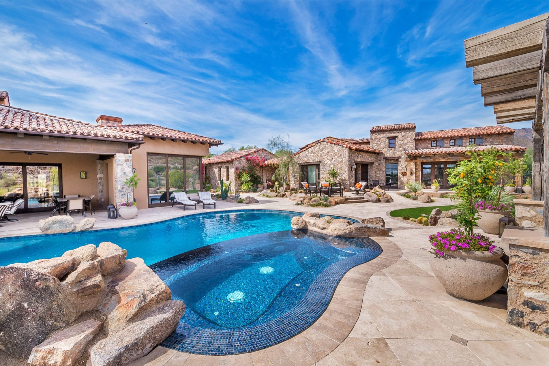 beautiful anthem backyard and pool builder
