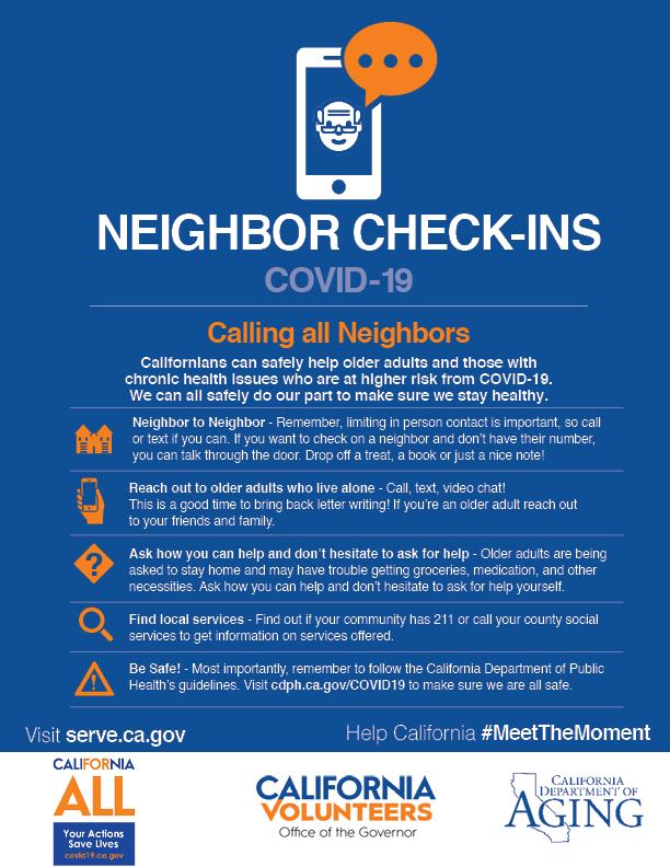 COVID-19 Neighbor Check-ins