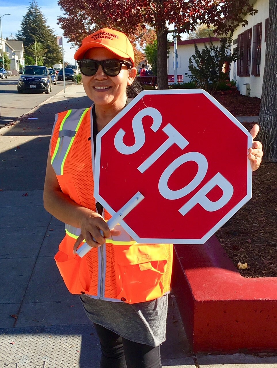 Crossing Guard at Franklin Elementary