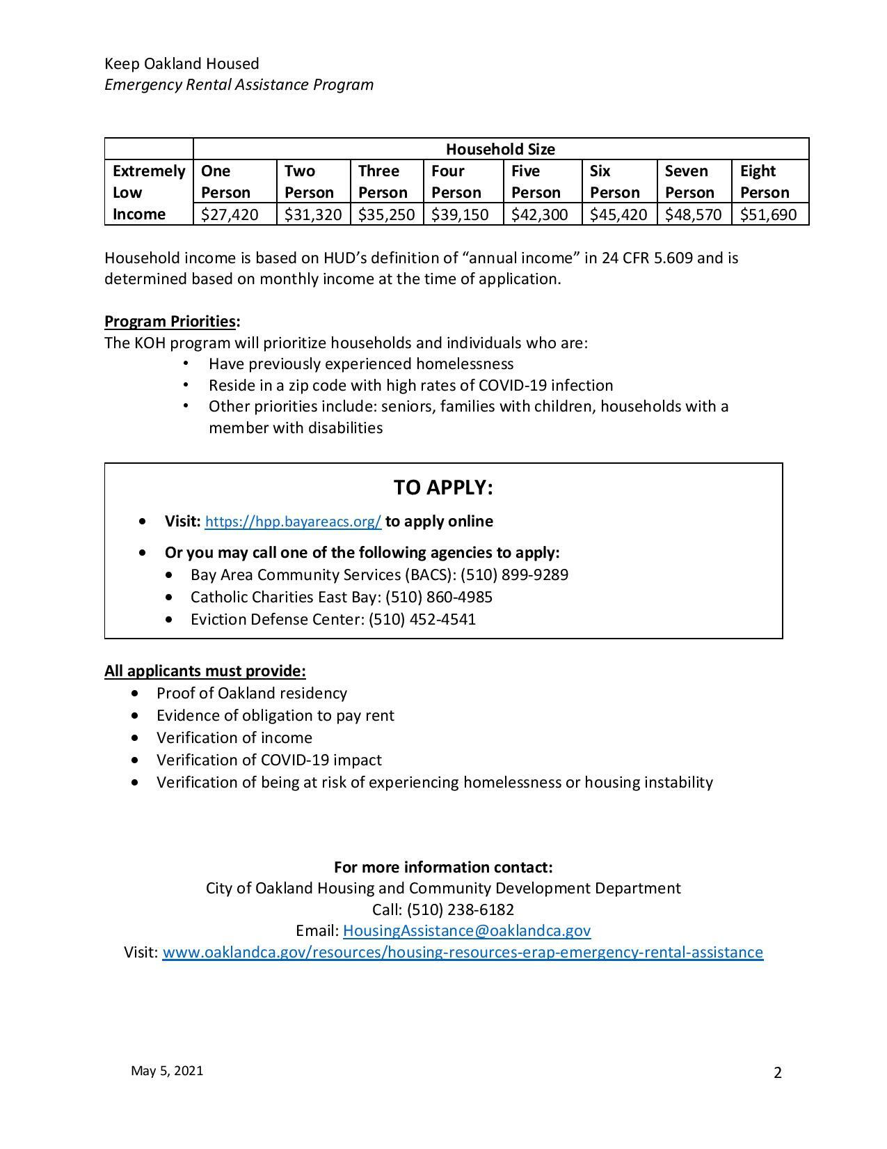 Updated Emergency Rental Fact sheet page 2